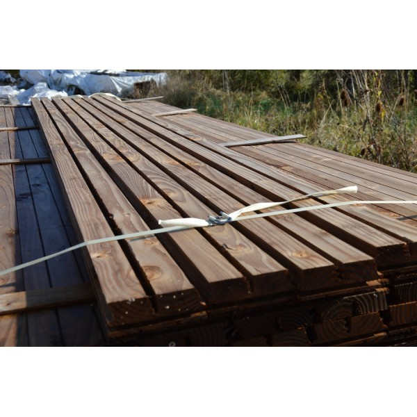 Bardage douglas trait autoclave profil faux claire voie for Bardage bois faux claire voie